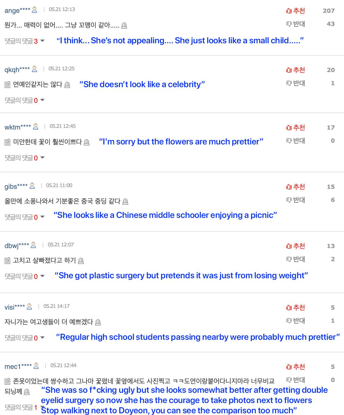 choi yoojung netizens bash