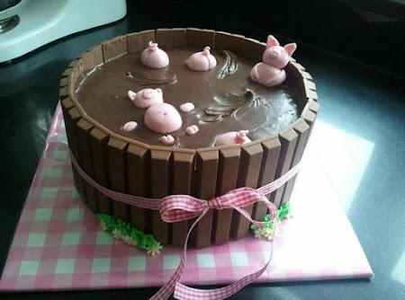 Kit Kat Piggy Cake Recipe