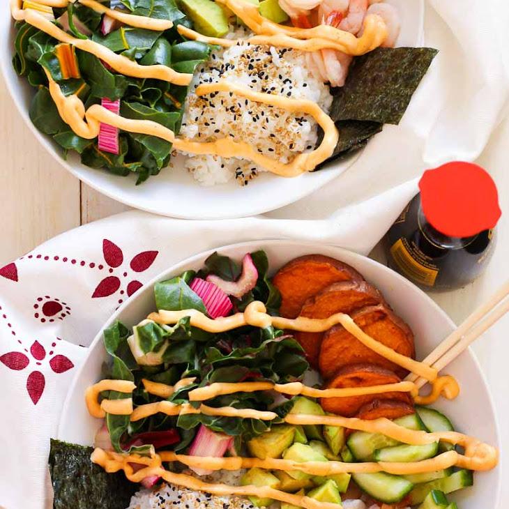 Shrimp Sushi Bowls with Spicy Mayo Recipe