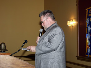 Photo: David Eastwood read out the nominations for the BOG 2008-2009