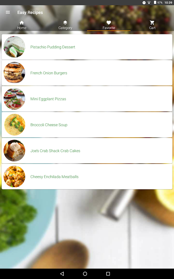 Easy Recipes- screenshot