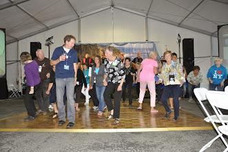 Photo: Line dancing