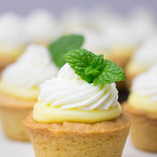Cookie Cups with Lemon Curd.