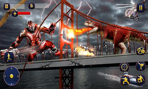 Wild Gorilla Transforming Robot: Dino Hunting Game 1.0 screenshots 1