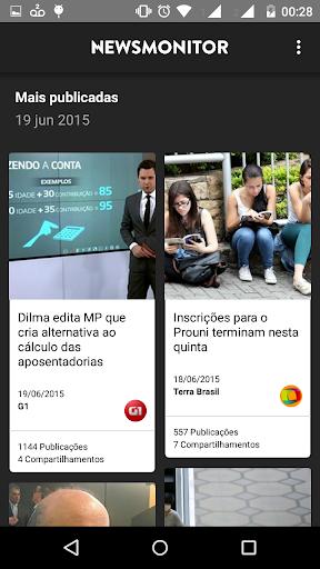 Newsmonitor - Mais publicadas
