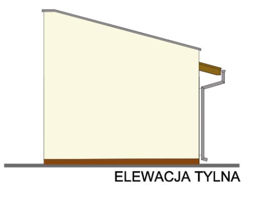 G-T1e - Elewacja tylna