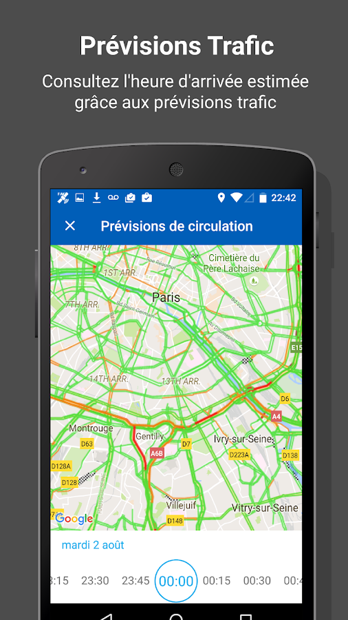 INRIX Traffic Cartes et GPS – Capture d'écran