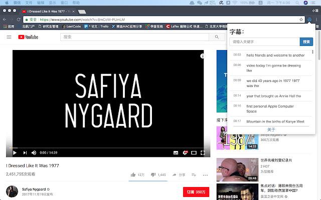Youtube Subtitle Searcher