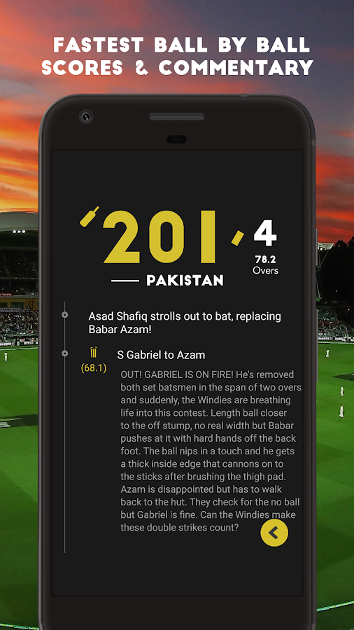 Cricket Live Scores & News- screenshot