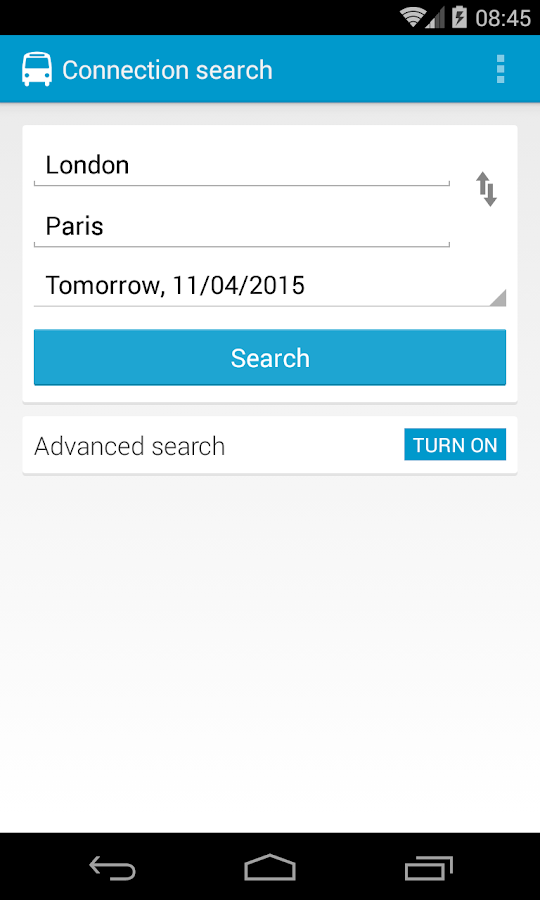 Busradar - Bus Trip App - screenshot