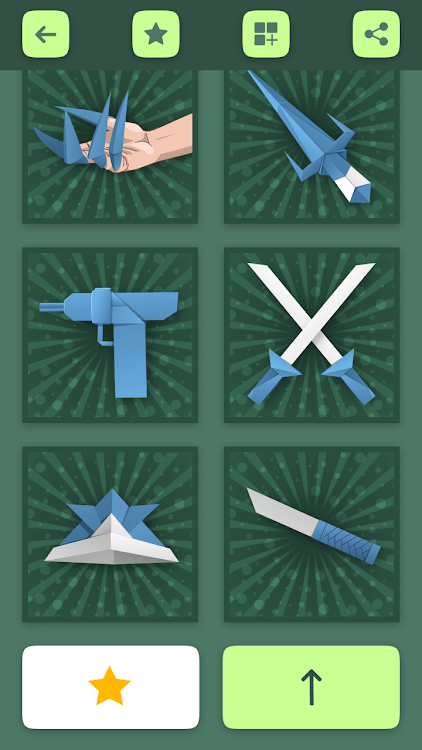 Origami Weapons Instructions: Paper Guns & Swords – (Android Apps