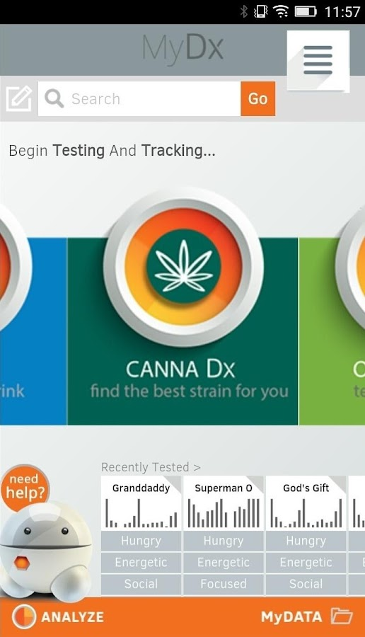 CannaDx- screenshot