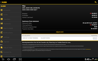 Screenshot of ASB Mobile Banking