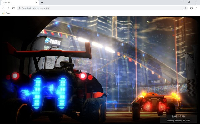 Rocket league New Tab & Wallpapers Collection