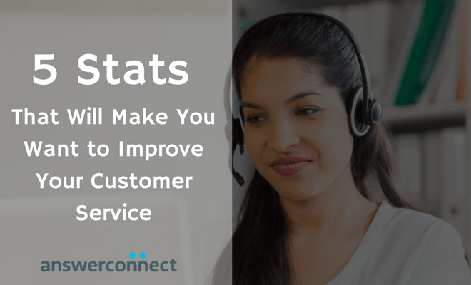 5 Stats that will make you want to improve your customer service