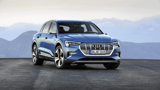 RECOGNISABLE: Audi's E-tron SUV follows on the design cues of its Q siblings with that single frame grille. Picture: SUPPLIED