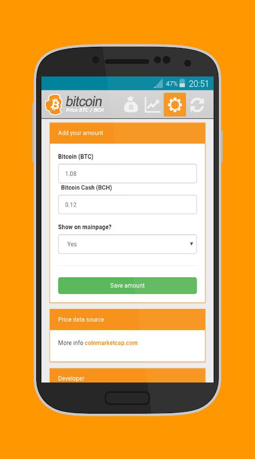 Bitcoin & BitcoinCash Price - BTC & BCH ticker 4