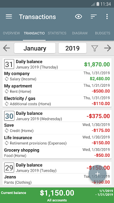 My Budget Book Screenshot Image