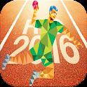 Flag Rio 2016 handball icon