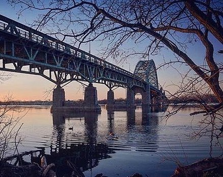 View of the Tacony -  Palmyra Bridge from Lardner's Point