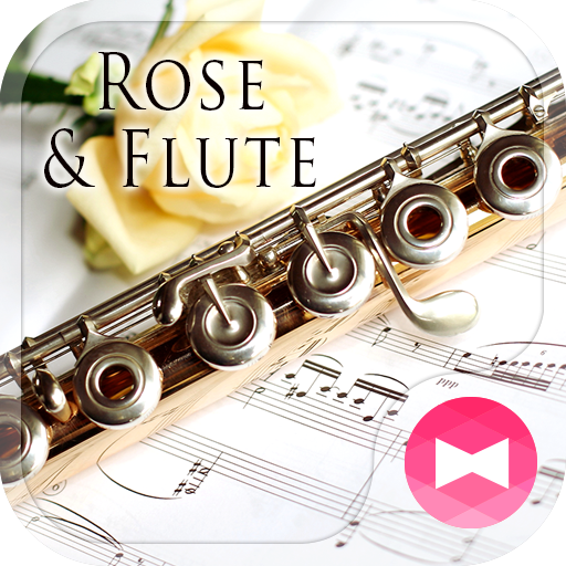 Elegant Wallpaper Rose & Flute Theme Icon