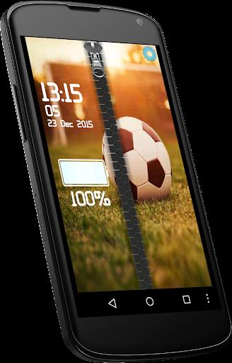 Football Zipper Lock screen