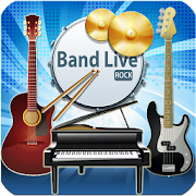 Band Live Rock (drum, bass, guitar, piano, mic)