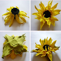 Making paper flowers icon