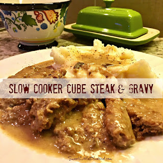 Slow Cooker Cube Steak & Gravy.