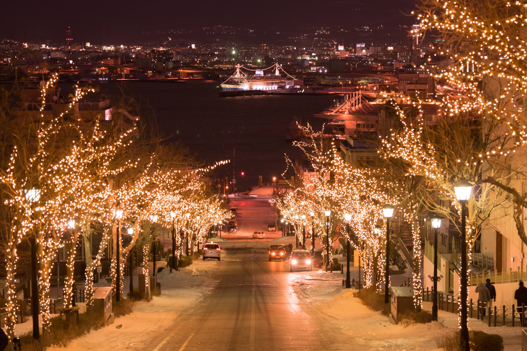 Hakodate Hachiman-Zaka Slope light-up3