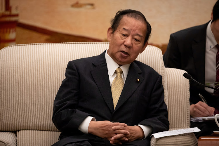Toshihiro Nikai, Secretary General of the Japanese Liberal Democratic Party in Beijing, on August 31 2018. File Picture: ROMAN PILIPEY/REUTERS