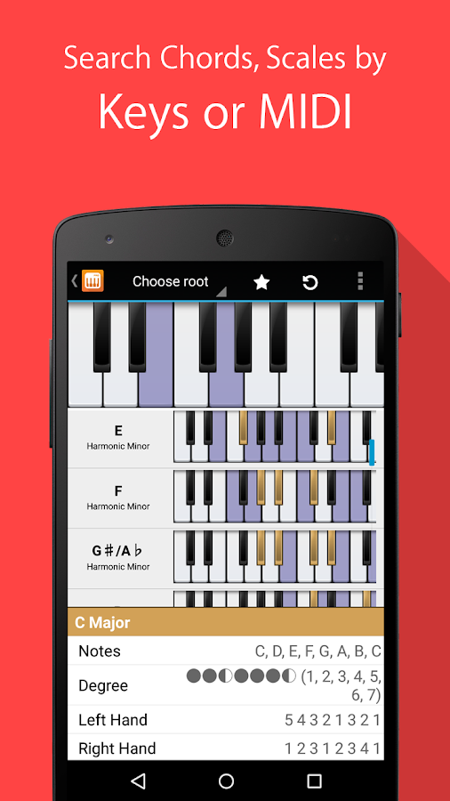 Piano Companion: chords,scales- screenshot