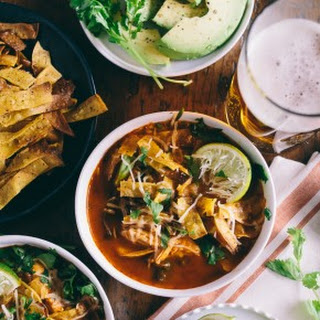Chicken and Chard Tortilla Soup