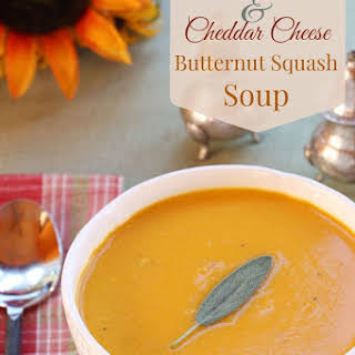 Apple Cider & Cheddar Cheese Butternut Squash Soup.