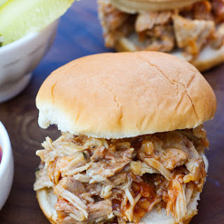 Barbecued Pulled Pork Sandwiches.