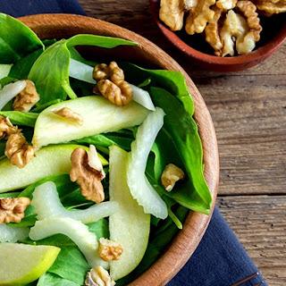 J.J. Smith's Apple Walnut Spinach Salad.