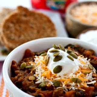 Pumpkin Chili with Pumpkin Grilled Cheese