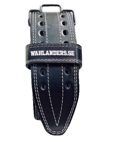 Wahlanders Bälte svart med vit söm - Small