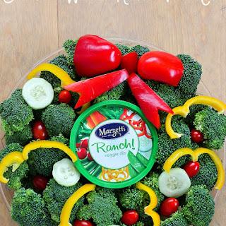 Wreath Holiday Veggie Tray