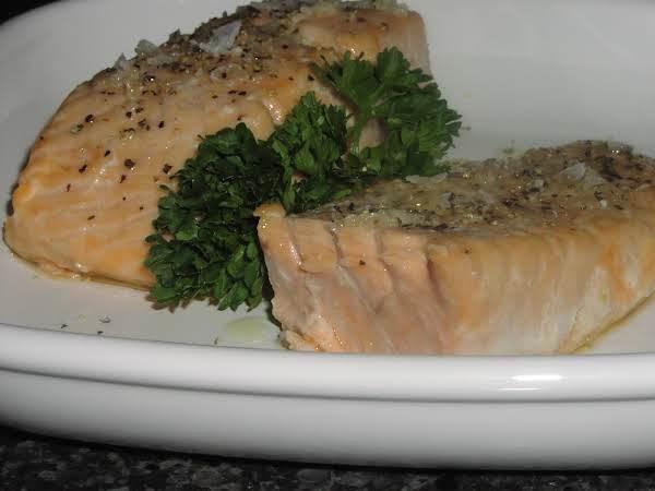 Baked Salmon With Coarse Sea Salt