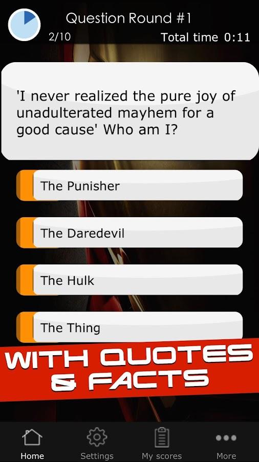Marvel Superhero Quiz 47