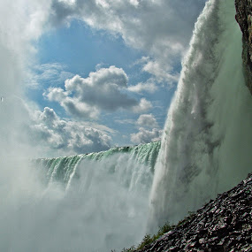 Niagara Behind the Falls by Andrea Everhard - Landscapes Waterscapes