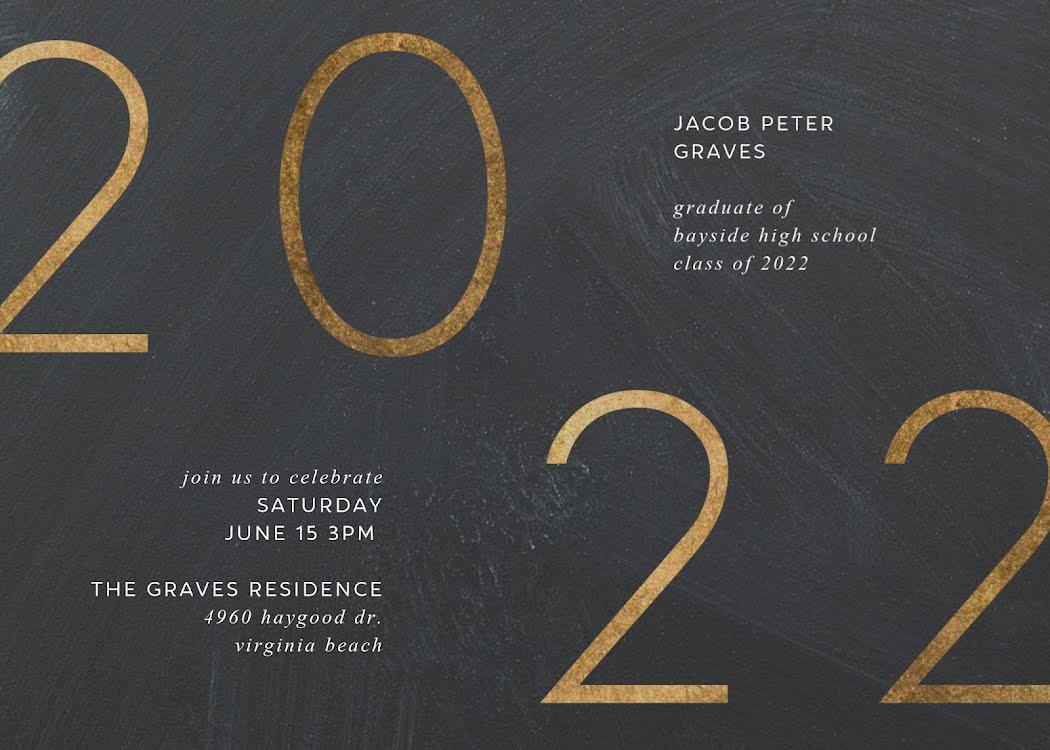 Jacob's Graduation Party - Graduation Announcement Template