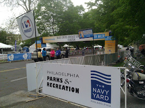 Photo: The finish line before the race begins
