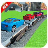 Car Cargo Train Transport 3D