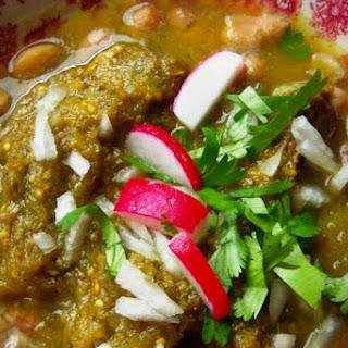Carne en su Jugo (Braised Beef in a Tomatillo Broth).