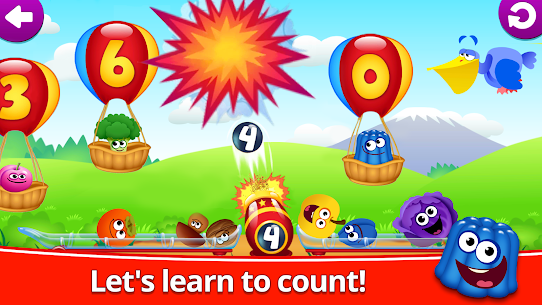 Funny Food 123! Kids Number Games for Toddlers! Mod Apk Download For Android 2