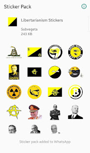 Download WAStickerApps Libertarianism Stickers for Whatsapp For PC Windows and Mac apk screenshot 1