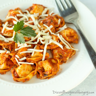 One Skillet Tortellini and Zucchini