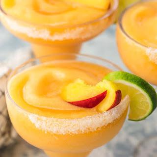 Skinny Peach Frozen Margarita.